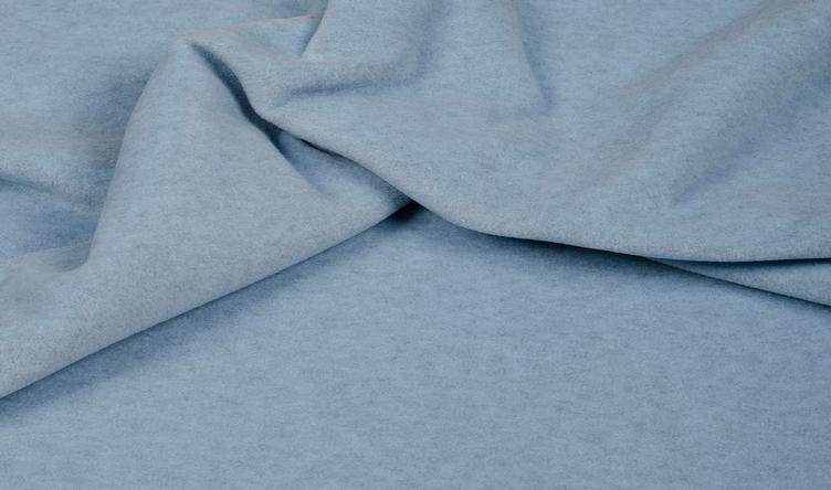 FLEECE MELANGE HELLBLAU