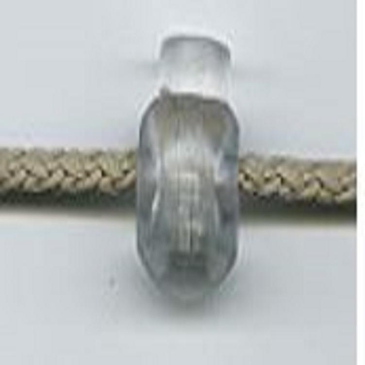 KORDELSTOPPER RUND TRANSPARENT