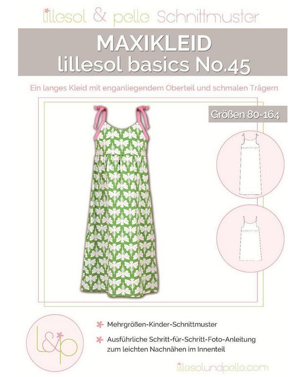 MAXIKLEID BASICS NO. 45 (748) | KINDER | SCHNITTMUSTER | Bottega ...