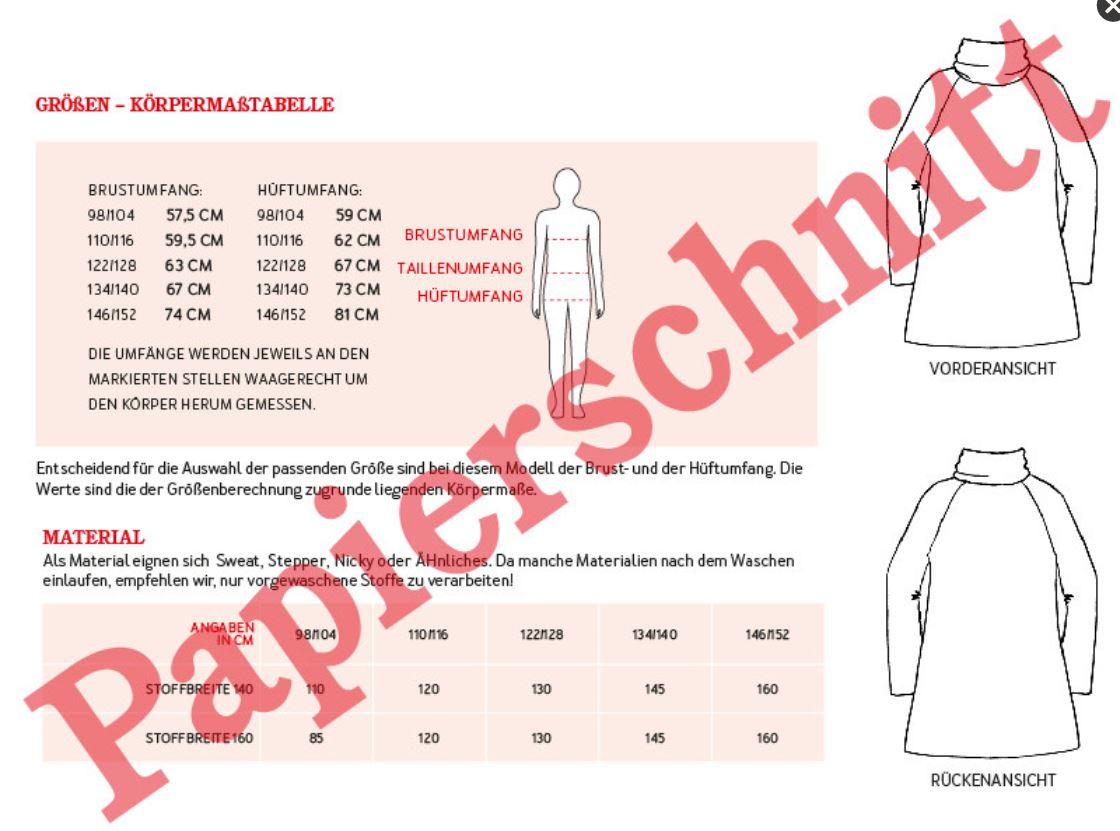 POLLY - SWEATKLEID MIT ROLLKRAGEN (775) | KINDER | SCHNITTMUSTER ...
